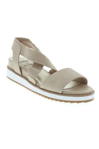 jana sandales et nu et pieds femme de couleur beige