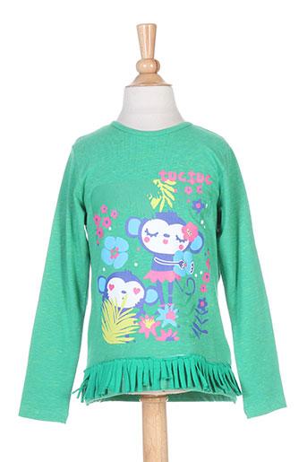 tuc tuc t-shirts fille de couleur vert