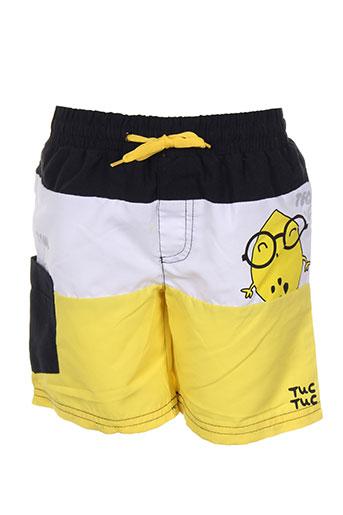tuc tuc maillots de bain garçon de couleur jaune