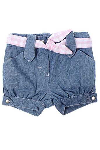 bulle de bb shorts / bermudas fille de couleur bleu