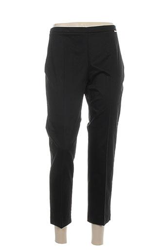 carla montanarini pantalons femme de couleur noir