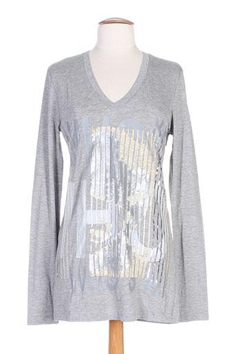 who's who t-shirts femme de couleur gris