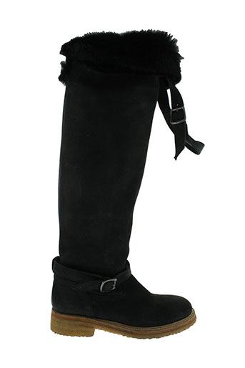 yim bottes femme de couleur noir