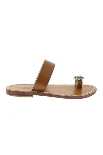 lola et cruz sandales et nu et pieds femme de couleur marron