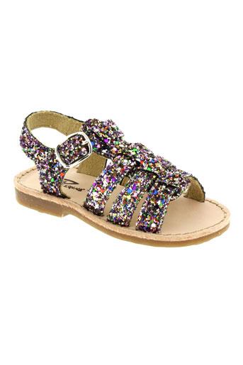 reqins sandales et nu et pieds fille de couleur violet
