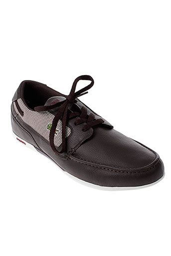 lacoste mocassins homme de couleur marron