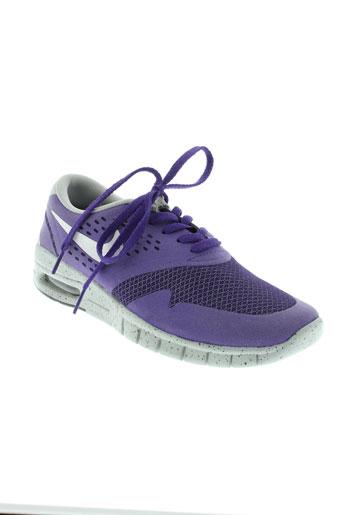 nike baskets femme de couleur violet