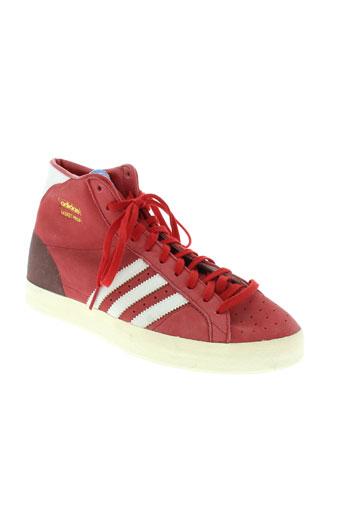 adidas baskets homme de couleur rouge