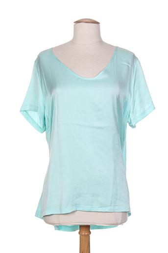 esqualo t-shirts femme de couleur bleu