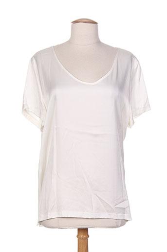 esqualo t-shirts femme de couleur beige