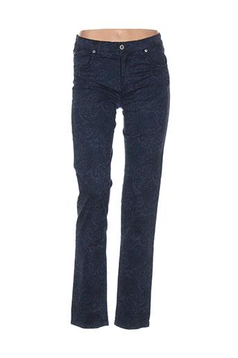 desgaste pantalons femme de couleur bleu