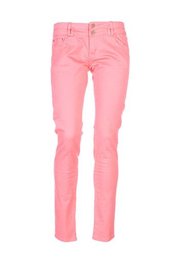 cindy.h pantalons femme de couleur rose