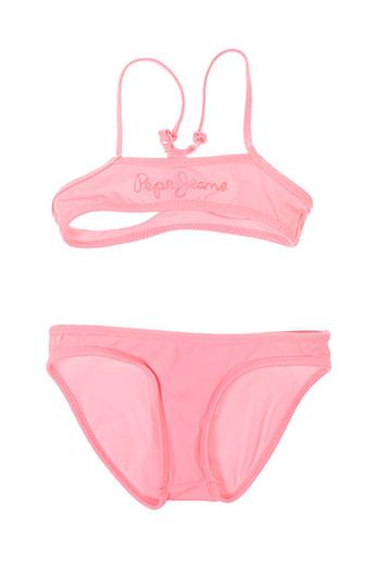 pepe jeans maillots de bain fille de couleur rose