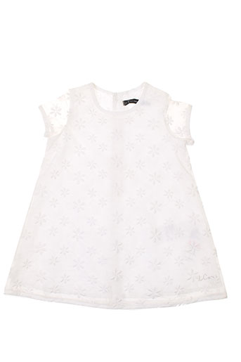 little couture robes fille de couleur blanc