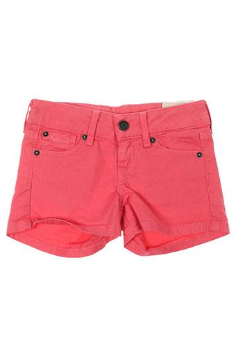 pepe jeans shorts / bermudas fille de couleur rose