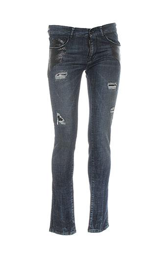 plein sud jeans femme de couleur bleu