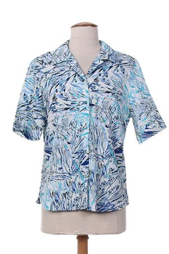 claude de saivre chemises femme de couleur bleu