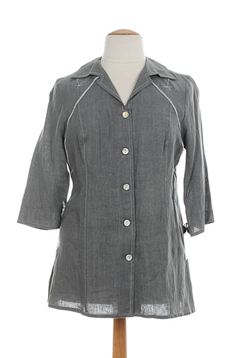 jean delfin chemises femme de couleur gris
