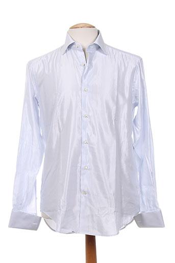 carlo pignatelli chemises homme de couleur blanc