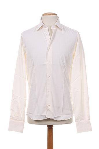 Chemise manches longues beige SMART pour homme
