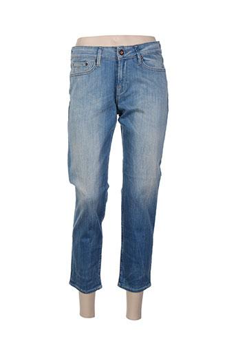 denham pantalons femme de couleur bleu
