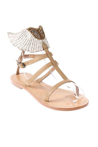 angela sandales et nu et pieds femme de couleur beige