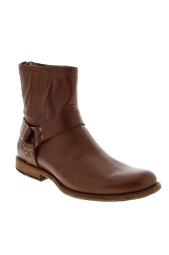 frye boots homme de couleur marron