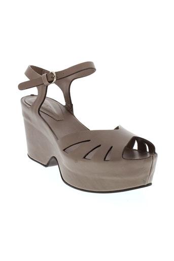 lena et milos sandales et nu et pieds femme de couleur marron