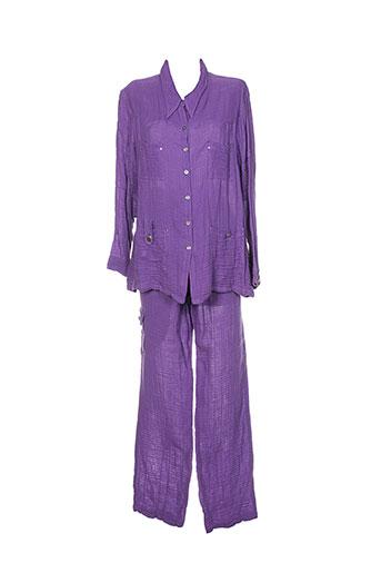 bleu d'azur ensemble femme de couleur violet