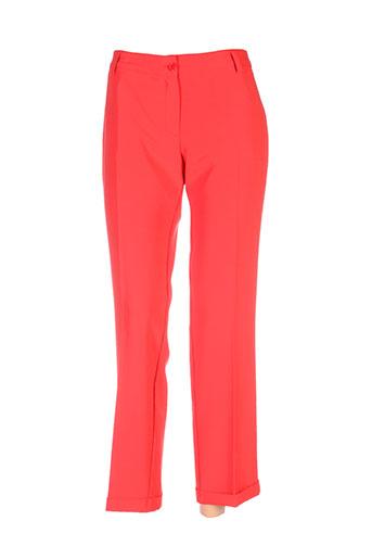 cristina et gavioli pantalons et citadins femme de couleur rouge