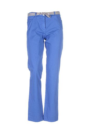 fleur et de et sel pantalons et decontractes femme de couleur bleu