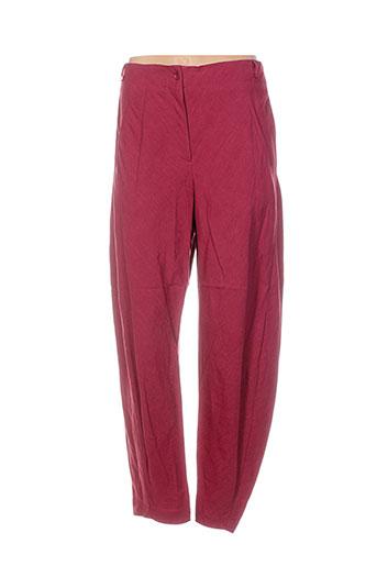 lilith pantalons femme de couleur rouge