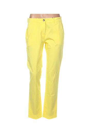 gant pantalons femme de couleur jaune