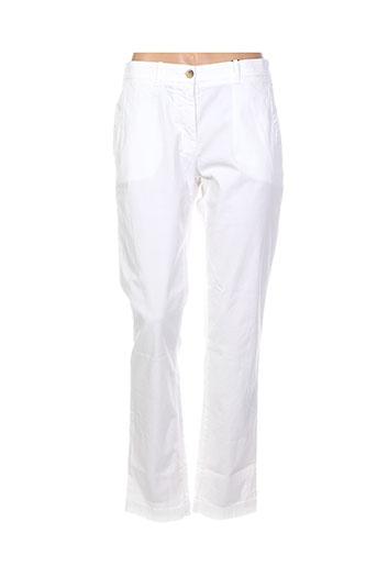 gant pantalons femme de couleur blanc