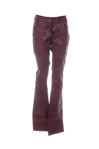corleone pantalons et decontractes femme de couleur rouge