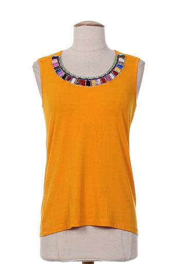 pause cafe t et shirts et tops femme de couleur jaune