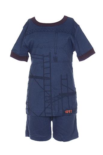 petit et bateau pyjashorts garcon de couleur bleu