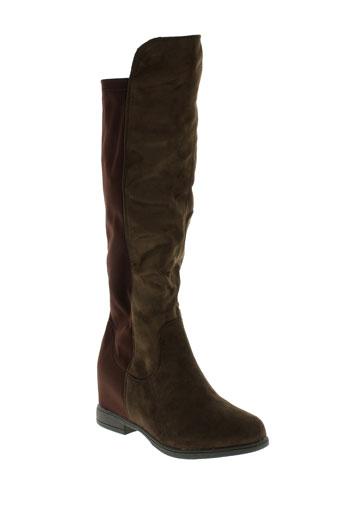 own bottes femme de couleur marron