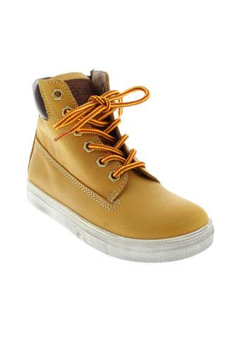 acebos boots garcon de couleur jaune