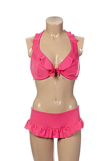 cache coeur maillots de bain femme de couleur rose