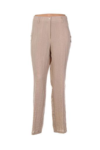 jean gabriel pantalons femme de couleur chair