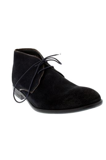 hexagone boots homme de couleur bleu