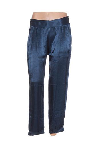nana nucci pantalons femme de couleur bleu