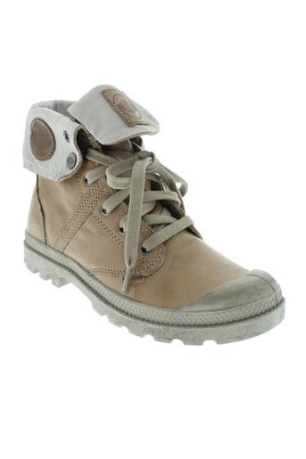 palladium boots femme de couleur beige