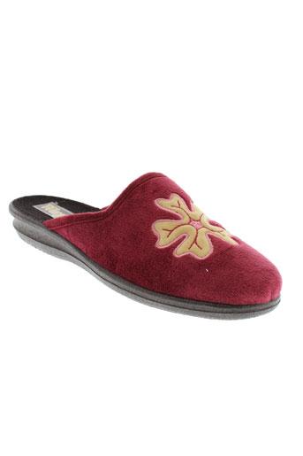 wapiti pantoufle femme de couleur rouge
