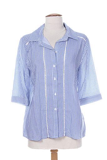 purple's chemises femme de couleur bleu