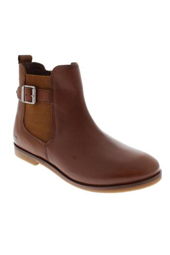 aster boots fille de couleur marron
