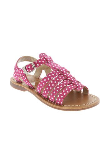 aster sandales et nu et pieds fille de couleur rose