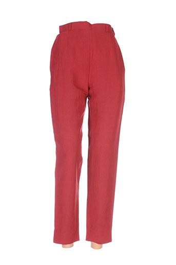 gregory pat pantalons femme de couleur rouge