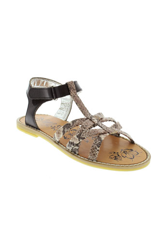 primigi sandales et nu et pieds fille de couleur noir